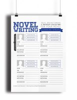 Novel Writing Template, secondary characters, plot, outline, story, idea, NaNoWriMo, Study Read Write