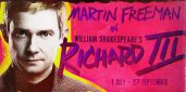 Richard III starring Martin Freeman. Promotional poster by Trafalgar Studios