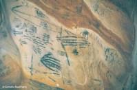 Aboriginal drawings inside the Yourambulla Caves. Copyright Cornelia Kaufmann