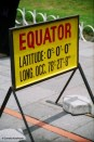 On the equator. Copyright Cornelia Kaufmann