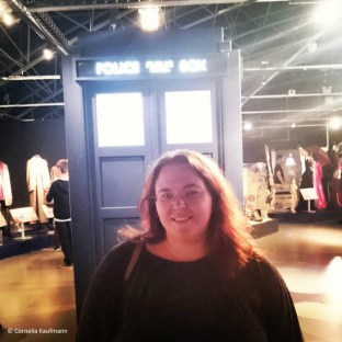 Me and my new ride, the TARDIS at the Doctor Who Experience in Cardiff. © Cornelia Kaufmann