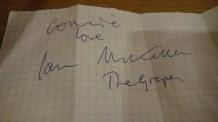 Met and lost the Pub Quiz at The Grapes against Sir Ian McKellen. © Cornelia Kaufmann