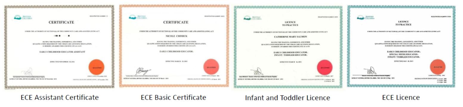 幼教 ECE 早期教育 幼兒教育 移民 加拿大 代辦 推薦 certificate