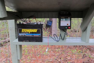 Battery electric fence charger