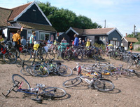 So many bikes at the end!