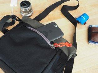 Hintere Tasche mit Reißverschluss