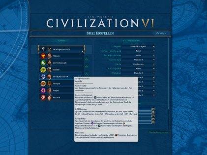 Nationenauswahl bei Civ 6