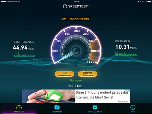 Speedtest Airport Extreme