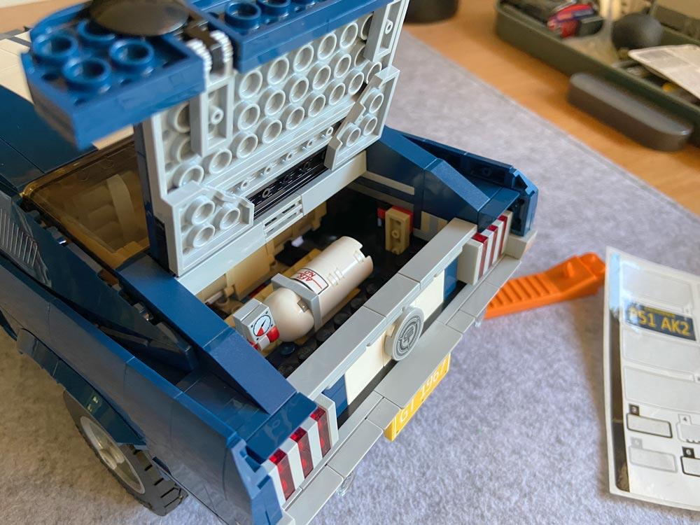 LEGO Ford Mustang Kofferraum