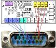 Correspondance des pins DB15 et encodeur