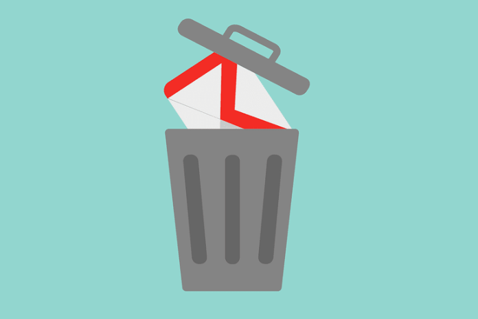gmail getting into trashcan