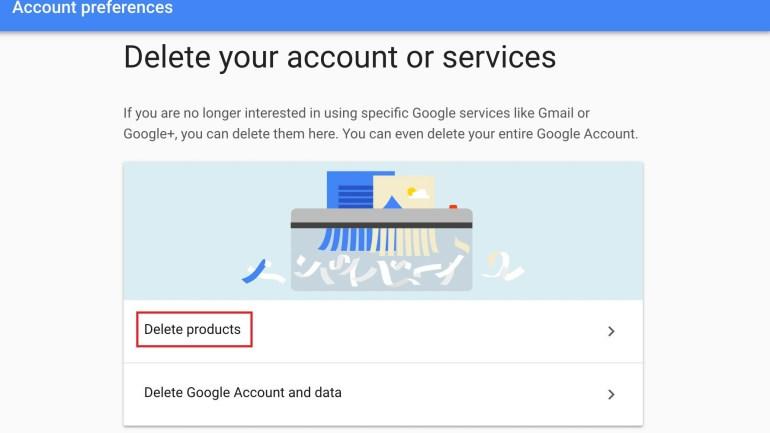 procedure to delete gmail account