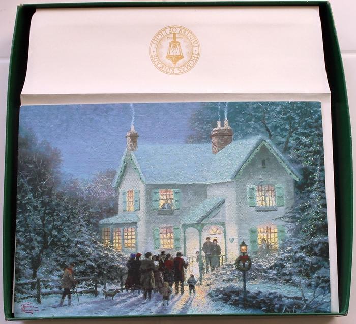 Hallmark Box Of 18 Thomas Kinkade Evening Carolers