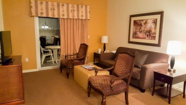 Living room of two bedroom suite