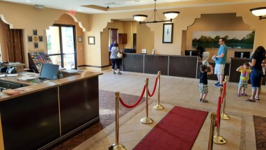 Check in area for hotel guests
