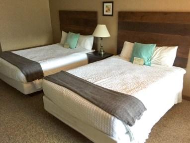 Two queen beds in the deluxe MVL room