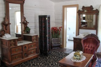 The Victorian Parlor suite at the Nevada City Hotel is filled with artifacts