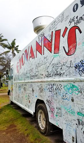 Visiting Giovanni's Shrimp Truck on the North Shore of Oahu is a definite must do on your trip