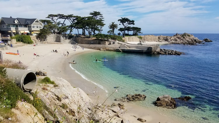 Lover's Point Beach Park in Pacific Grove, CA