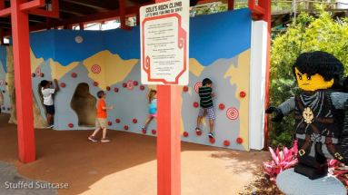 Climbing wall fun in NINJAGO World