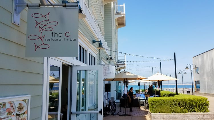 the C restaurant + bar in Cannery Row