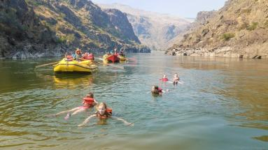 Lots of great spots for swimming during our trip down the river! © Stuffed Suitcase