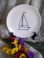 sailboat plate