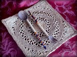 tribal wood fork and spoon