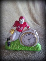 football player clock