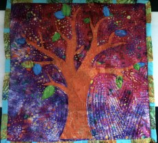 baby/lap quilt - batic/tree