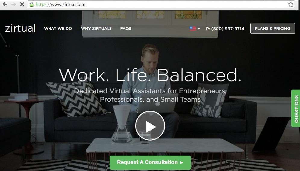zirtual virtual assistance job online