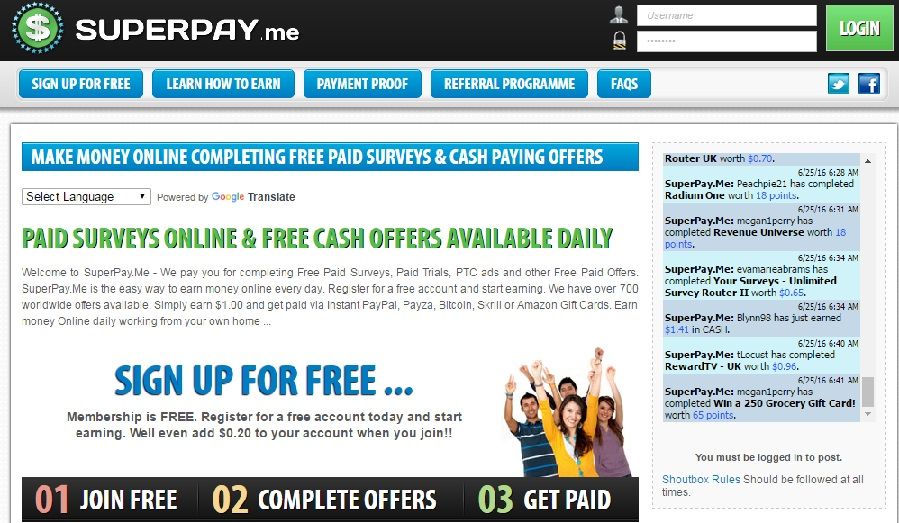 superpay earn online