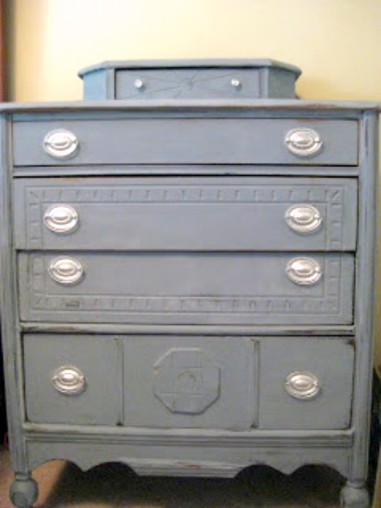 diy distressed dresser 3