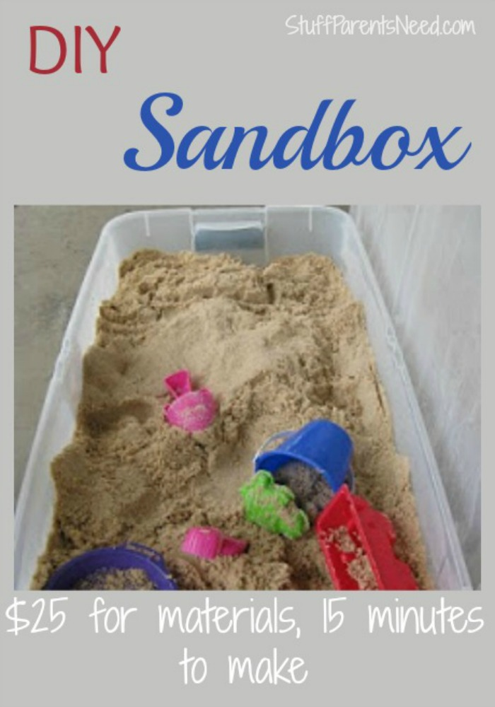 make your own sandbox for cheap