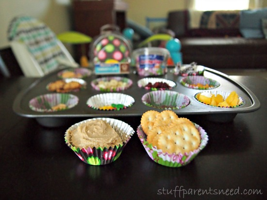 baking cups can even hold hummus!