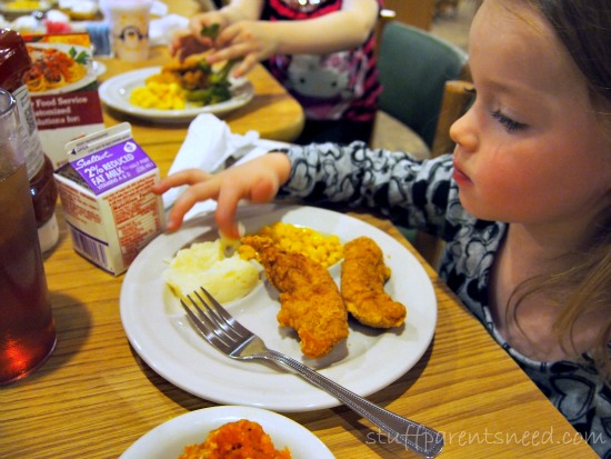 dining with kids: chicken finger meal from PIccadilly