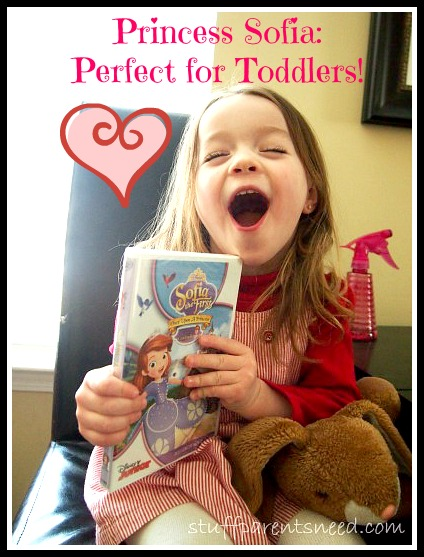Toddler reacts to receiving Princess Sofia movie