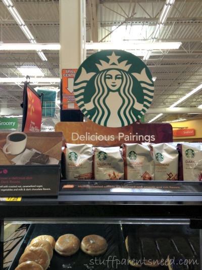Starbucks #DeliciousPairings store signage