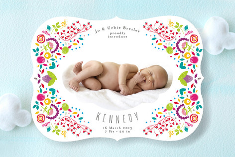 indie birth announcement from minted.com