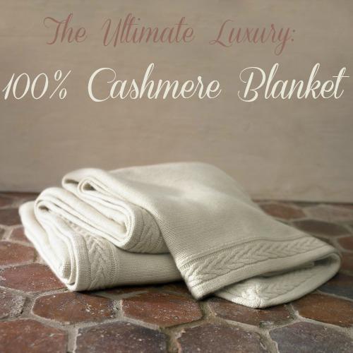cashmere blanket: luxury linens