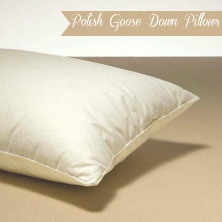 luxury pillows: polish goose down