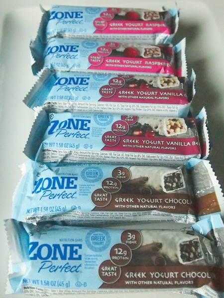 greek yogurt nutrition bars: zone perfect