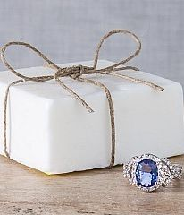 jewel scent ring in soap
