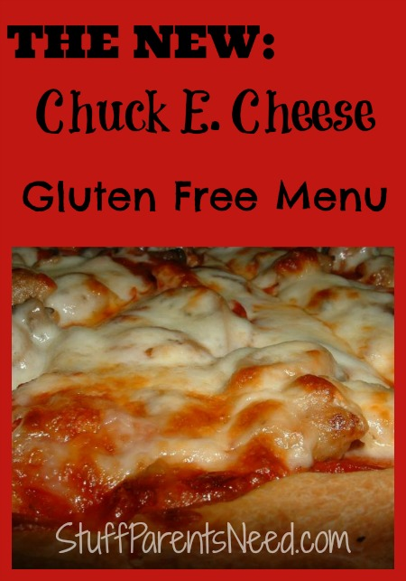 Chuck E Cheese Gluten Free Menu