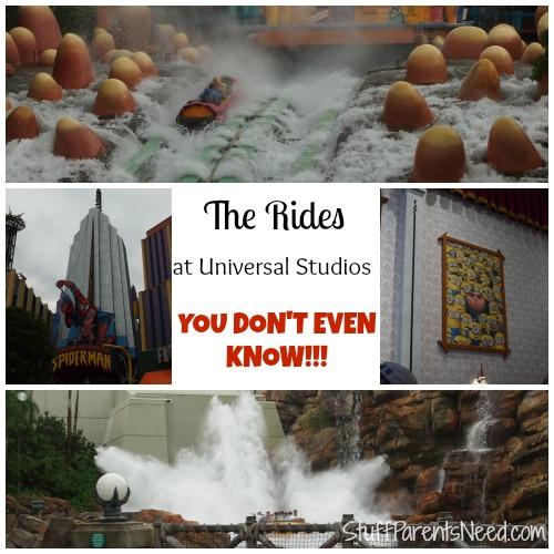 universal studios rides