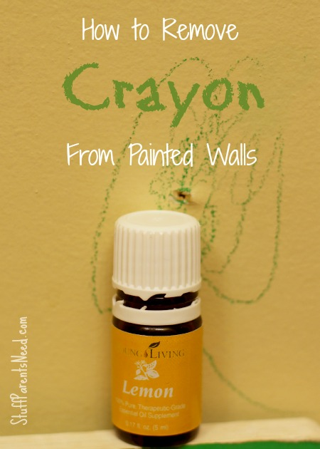 how to remove crayon from painted walls
