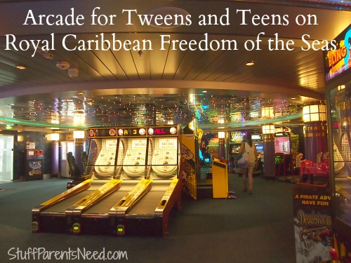arcade on royal caribbean's freedom of the seas