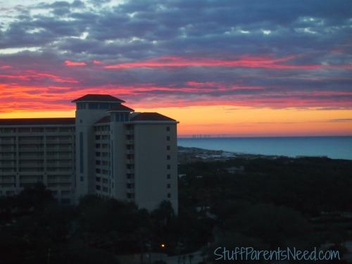 sunrise at sandestin from luau 1