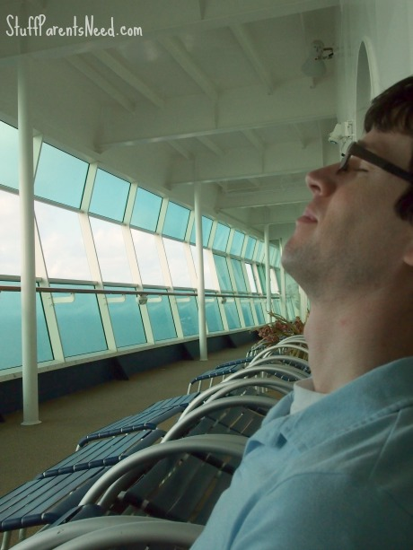 relaxing with royal caribbean