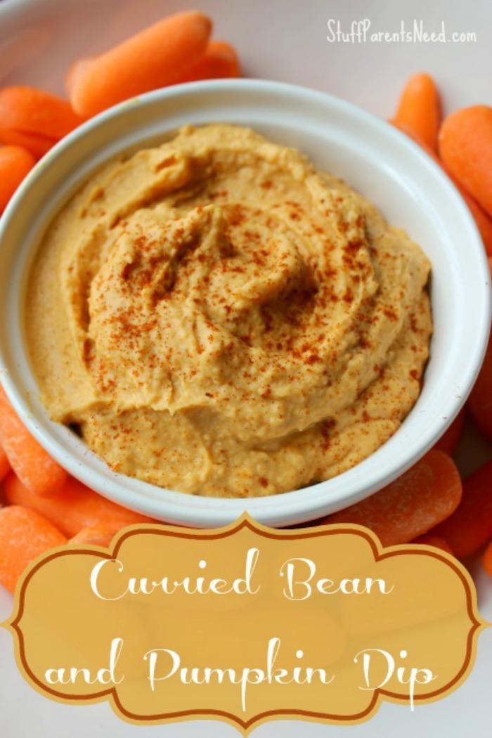 curried bean and pumpkin dip